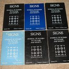 Signs - Journal of Women in Culture & Society, 6 volumes, 1970's softcover