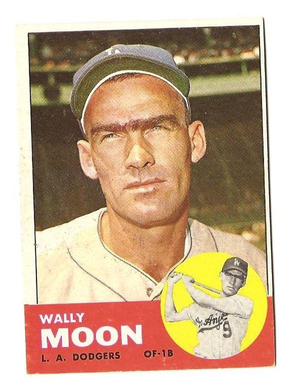 1963 Topps baseball card #279 Wally Moon VG/EX Los Angeles Dodgers