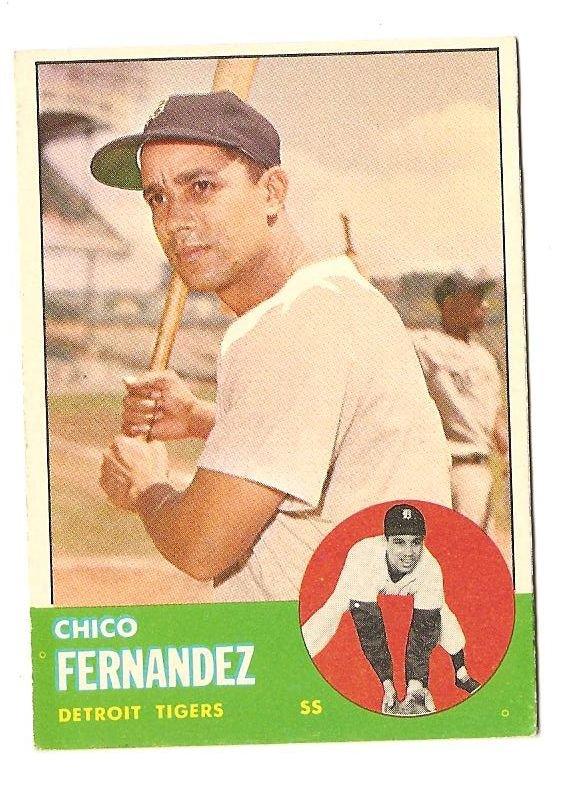 1963 Topps baseball card #278 Chico Fernandez EX Detroit Tigers