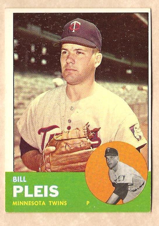 1963 Topps baseball card #293 Bill Pleis EX Minnesota Twins