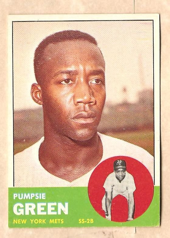 1963 Topps baseball card #292 Pumpsie Green EX New York Mets