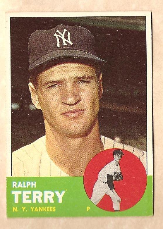 1963 Topps baseball card #315 Ralph Terry EX/NM New York Yankees