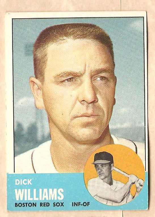 1963 Topps baseball card #328 Dick Williams VG Boston Red Sox