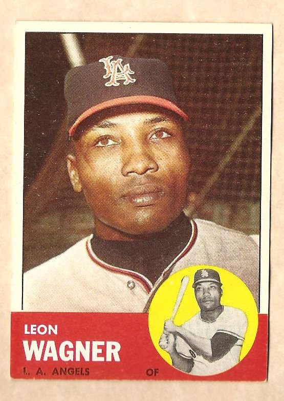 1963 Topps baseball card #335 Leon Wagner VG/EX Los Angeles Angels