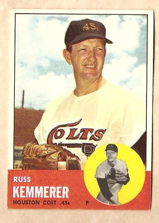 1963 Topps baseball card #338 Russ Kemmerer EX Houston Colt 45's