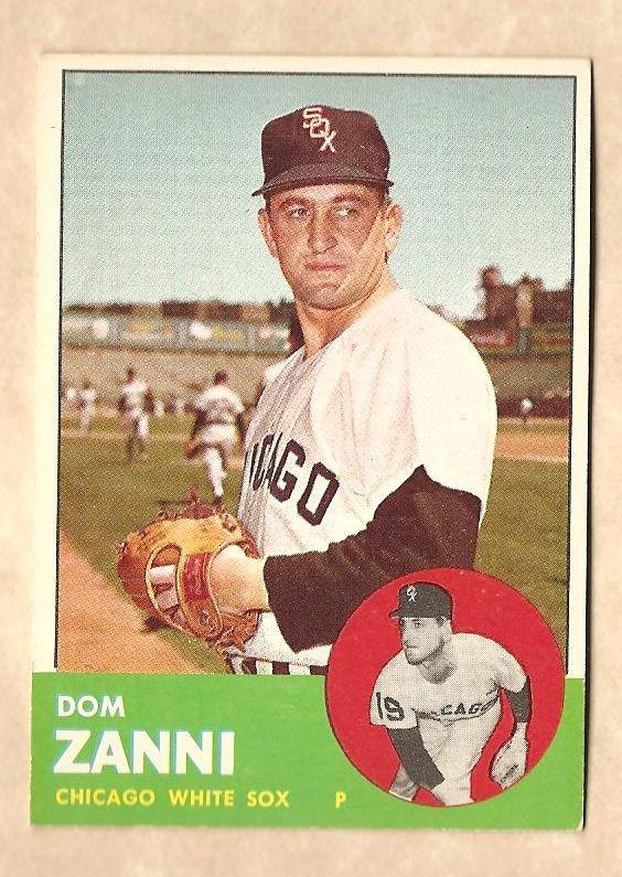 1963 Topps baseball card #354 Dom Zanni EX Chicago White Sox