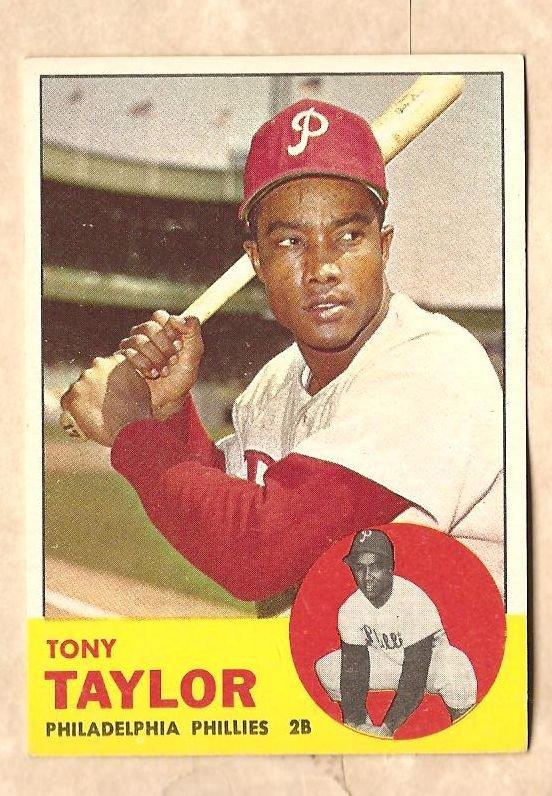 1963 Topps baseball card #366 Tony Taylor EX/NM Philadelphia Phillies