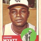 1963 Topps baseball card #376 Johnnie Wyatt VG/EX Kansas Cit A's Athletics