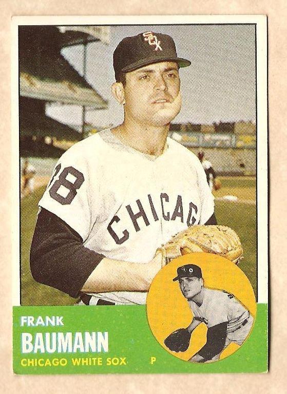 1963 Topps baseball card #381 Frank Baumann VG Chicago White Sox