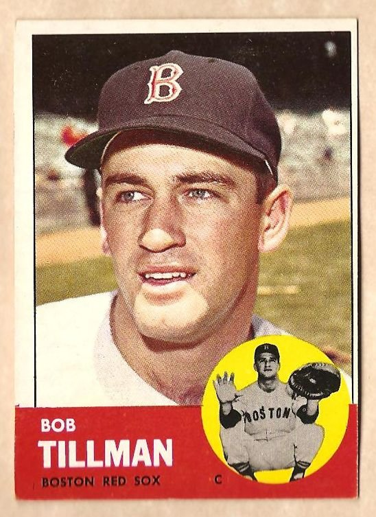 1963 Topps baseball card #384 Bob Tillman VG/EX Boston Red Sox