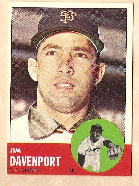 1963 Topps baseball card #388 Jim Davenport EX San Francisco Giants