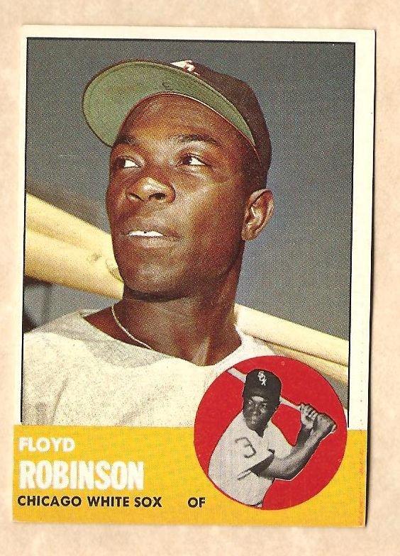 1963 Topps baseball card #405 Floyd Robinson NM Chicago White Sox