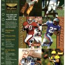 1995 Skybox Premium promo promotional football 6 card uncut sheet, NM/M Brett Favre