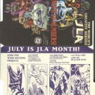 DC Comics JLA (Justice league of America) promo promotional checklist folder, 1997
