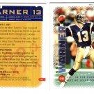 2001 Kurt Warner religious prayer  football card St. Louis Rams NFL NM/M