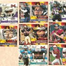 2001 Topps XFL promo promotional football card #P1 - P8 set of 8 NM/M