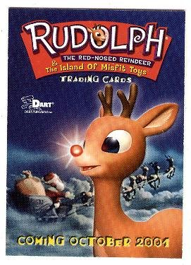 2001 Dart Promo Promotional Card Rudolph The Red Nosed