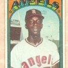 1972 Topps baseball card #272 Mickey Rivers California Angels, Fair - very wrinkled