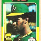 1975 Topps baseball card #647 Claudell Washington Oakland A's VG