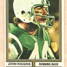 1974 Topps football card #280 John Riggins New York Jets VG