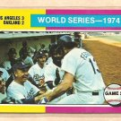 1975 Topps baseball card #462 World Series game 2 Oakland A's Los Angeles Dodgers NM