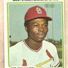 1978 Topps baseball card #1 Lou Brock Stolen base leader St. Louis Cardinals EX/NM