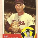 1963 Topps baseball card #26 Ray Moore Minnesota Twins VG/EX