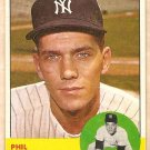 1963 Topps baseball card #264 Phil Linz New York Yankees EX
