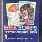 1990-91 1990/91 Hoops basketball card Series 1 wax box, Factory sealed, 36 packs, never opened, MINT