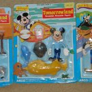 Walt Disney Frontierland Fantasyland Tomorrowland bendable figures Donald Duck Mickey Mouse Goofy