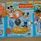 Walt Disney Frontierland Fantasyland Tomorrowland bendable figures Donald Duck Mickey Mouse Goofy