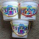 3 1989 White Castle Marvel Super-Heroes pails buckets - She-Hulk Captain America