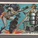 1966 Topps Batman (black bat) non-sports trading card #47 NM/M Deadly Robot
