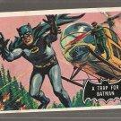 1966 Topps Batman (black bat) non-sports trading card #37 NM A Trap For Batman