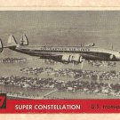 1956 Topps Jets card #77 Super Constellation, US Transport