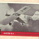 1956 Topps Jets card #98 Auster B-4, British Ambulance-Freighter