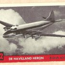 1956 Topps Jets card #72 De Havilland Heron, Bristish Airliner