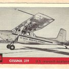 1956 Topps Jets card #148 Cessna 319, US Research airplane