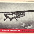 1956 Topps Jets card #159 Fulton Airphibian, US airplane-automobile