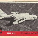1956 Topps Jets card #180 Bell X-5, US Research Aircraft