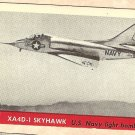 1956 Topps Jets card #16 XA4D-1 Skyhawk, US Navy light bomber