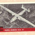 1956 Topps Jets card #234 Hurel-Dubois H.D. 31, French Transport