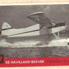 1956 Topps Jets card #117 De Havilland Beaver, Canadian Transport