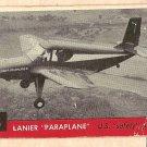 1956 Topps Jets card #3 Lanier Paraplane, US Safety Plane