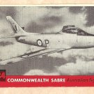1956 Topps Jets card #134 Commonwealth Sabre, Australian Fighter