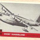 1956 Topps Jets card #123 Short Sunderland, British Flying boat