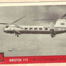 1956 Topps Jets card #75 (B) Bristol 173, British Transport Helicopter
