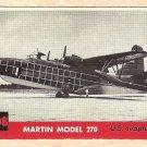 1956 Topps Jets card #208 Martin Model 270, US Seaplane