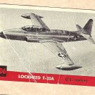 1956 Topps Jets card #206 Lockheed T-33A, US Trainer