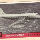 1956 Topps Jets card #57 Vickers Viscount, British Transport